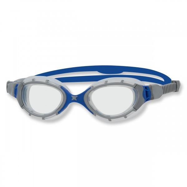 Zoggs Schwimmbrille Predator Flex Regular Fit, grey blue clear