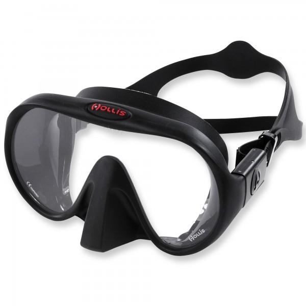 Tauchmaske Hollis M1-ONYX - schwarzes Silikon