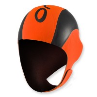 ORCA High Vis Neopren Swimcap - schwarz orange