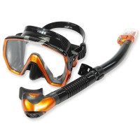Tusa Schnorchelset Freedom HD energy orange - mit Trockenschnorchel