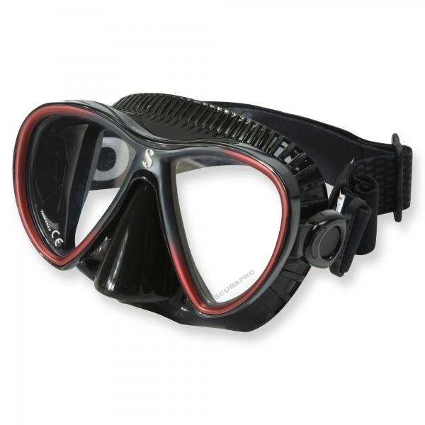 Synergy Twin Trufit rot schwarz - weicher Maskenkörper mit Comfort Strap von Scubapro
