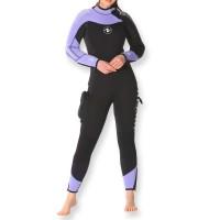 Aqualung Dynaflex Overall 7mm halbtrocken - Damen mit Rückenreißverschluss