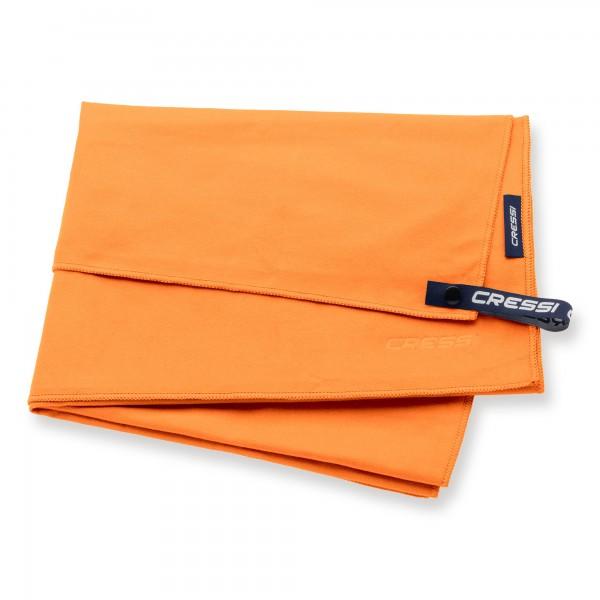 Cressi Microfaser Handtuch 60 x 120 cm, orange - schnell trocknend