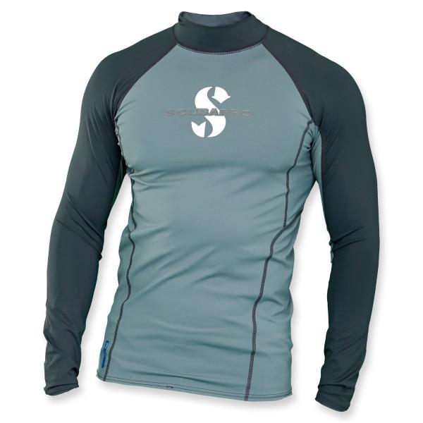 Scubapro T-Flex Lycra Shirt Herren - graphite Langzarm UPF 80