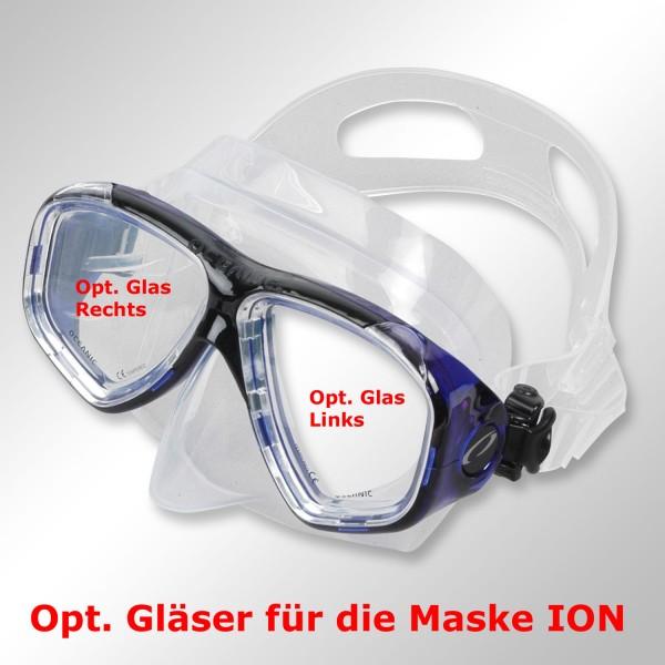 Opt. Glas für Maske ION