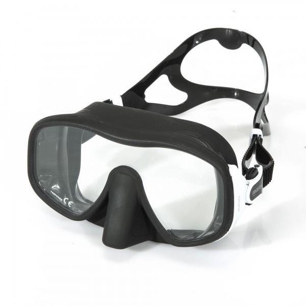 Mares Juno Einglas Maske - schwarz weiß mit großem Sichtfeld