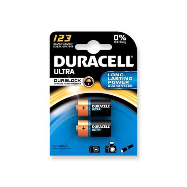 Duracell Lithium Ultra CR123 - 2er Blister