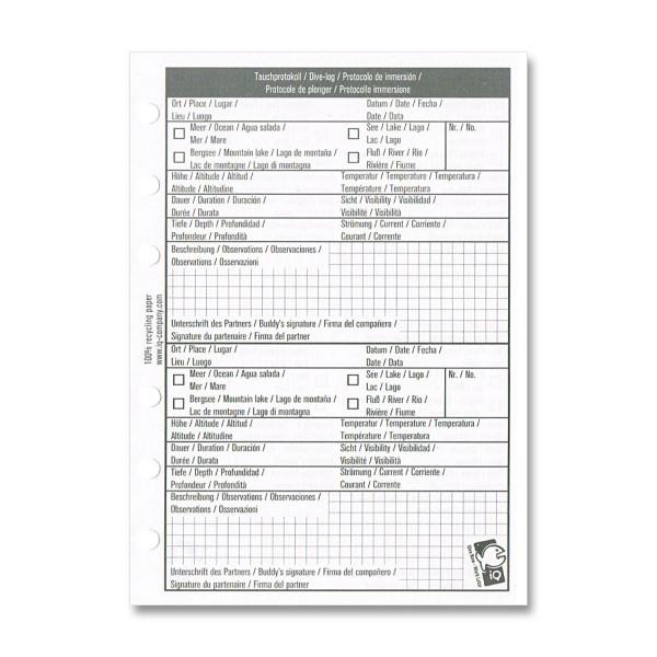 IQ Logbucheinlagen XS/S - 2 TG pro Seite
