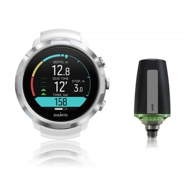 Suunto D5 White Tauchcomputer im Uhrenformat - Sparset mit Sender für Luft und Nitrox