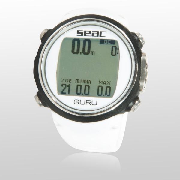 Seac Guru Tauchcomputer  für Luft und Nitrox - Uhrenformat, weiß
