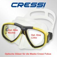 Optisches Glas für Cressi Focus- links
