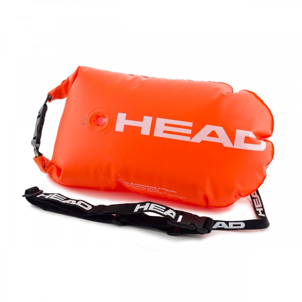 Head Safety Buoy - Sicherheitsboje für Schwimmer. orange