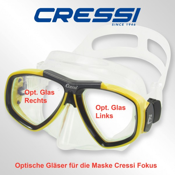 Optisches Glas für Cressi Focus- links