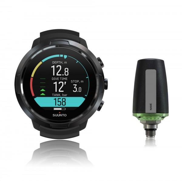 Suunto D5 all black Tauchcomputer im Uhrenformat - Sparset mit Sender für Luft und Nitrox