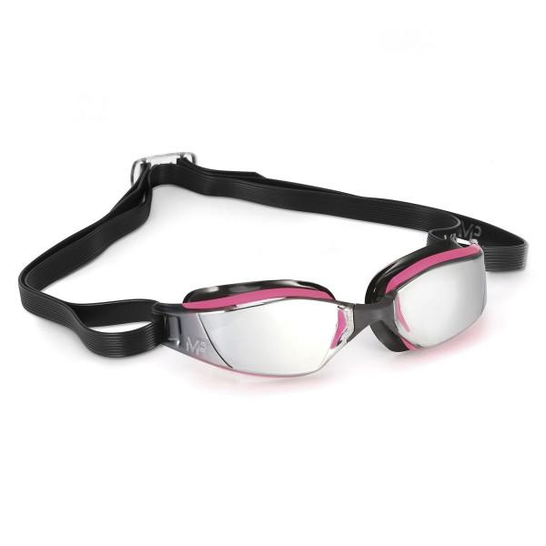 MP Xceed Mirror Pink Black Schwimmbrille Lady - verspiegelte Scheibe