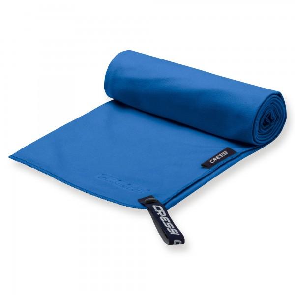 Cressi Mircofaser Handtuch 30 x 50 cm, blau - schnell trocknend