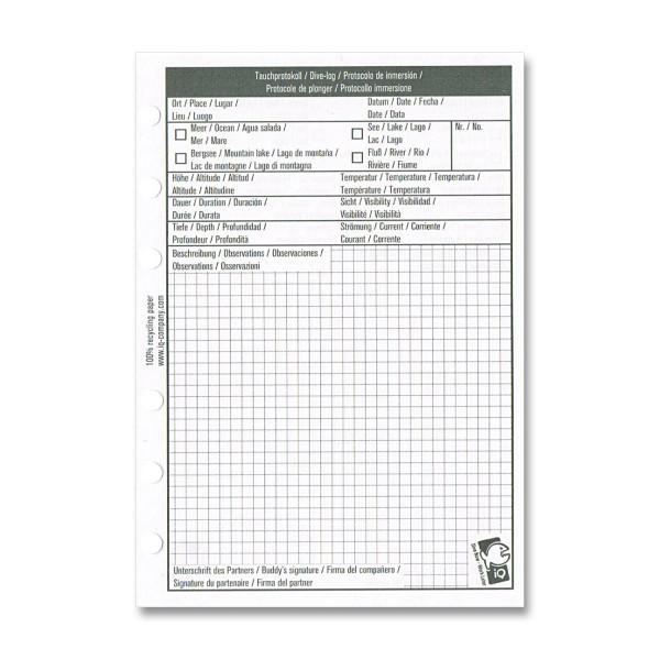 IQ Logbucheinlagen XS/S - 1 TG pro Seite