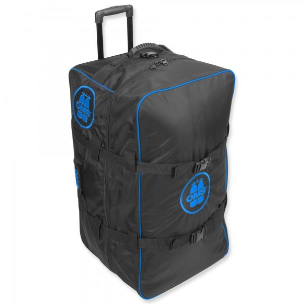 OMS Roller Bag - riesiger, sehr leichter Rollenrucksack - 145 Liter, blau