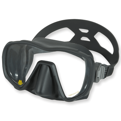 OMS Frameless Maske - Einglasbauweise, großes Sichtfeld,