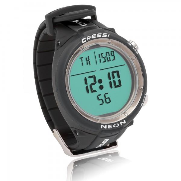 Cressi Tauchcomputer Neon - im Uhrenformat, schwarz