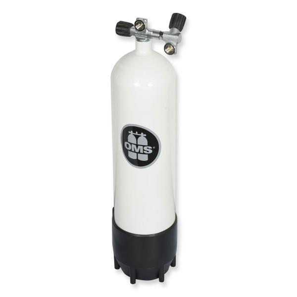 OMS - BTS Stahlflasche 12 Liter lang mit Ventil und Zweitabgang