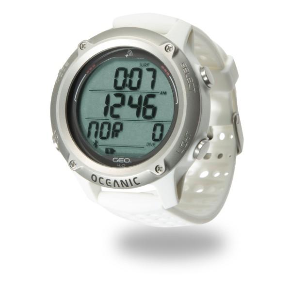 Oceanic Geo 4.0 Tauchcomputer im Uhrenformat - Luft und Nitrox, weiß