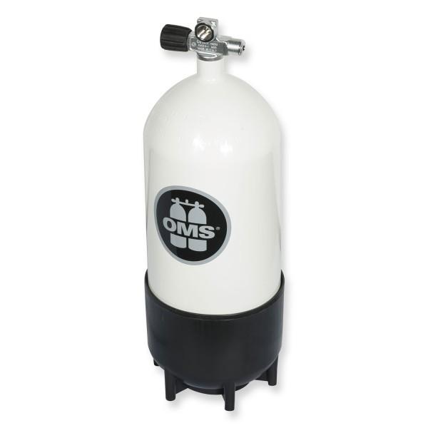 OMS - BTS Mono Stahlflasche 12 Liter kurz - Ventil ausbaufähig