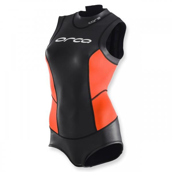 Orca Freiwasser-Schwimmanzug Core Open Water schwarz orange - Damen, Badeanzug