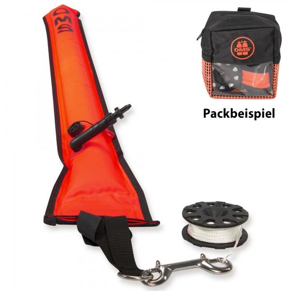 OMS Safety Sparset 3.3 - mit Boje, Tasche und 23 m Mini Reel - Lava Orange