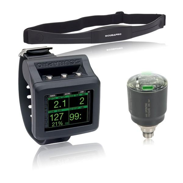 Scubapro G2 Tauchcomputer mit LED-Sender und Brustgurt
