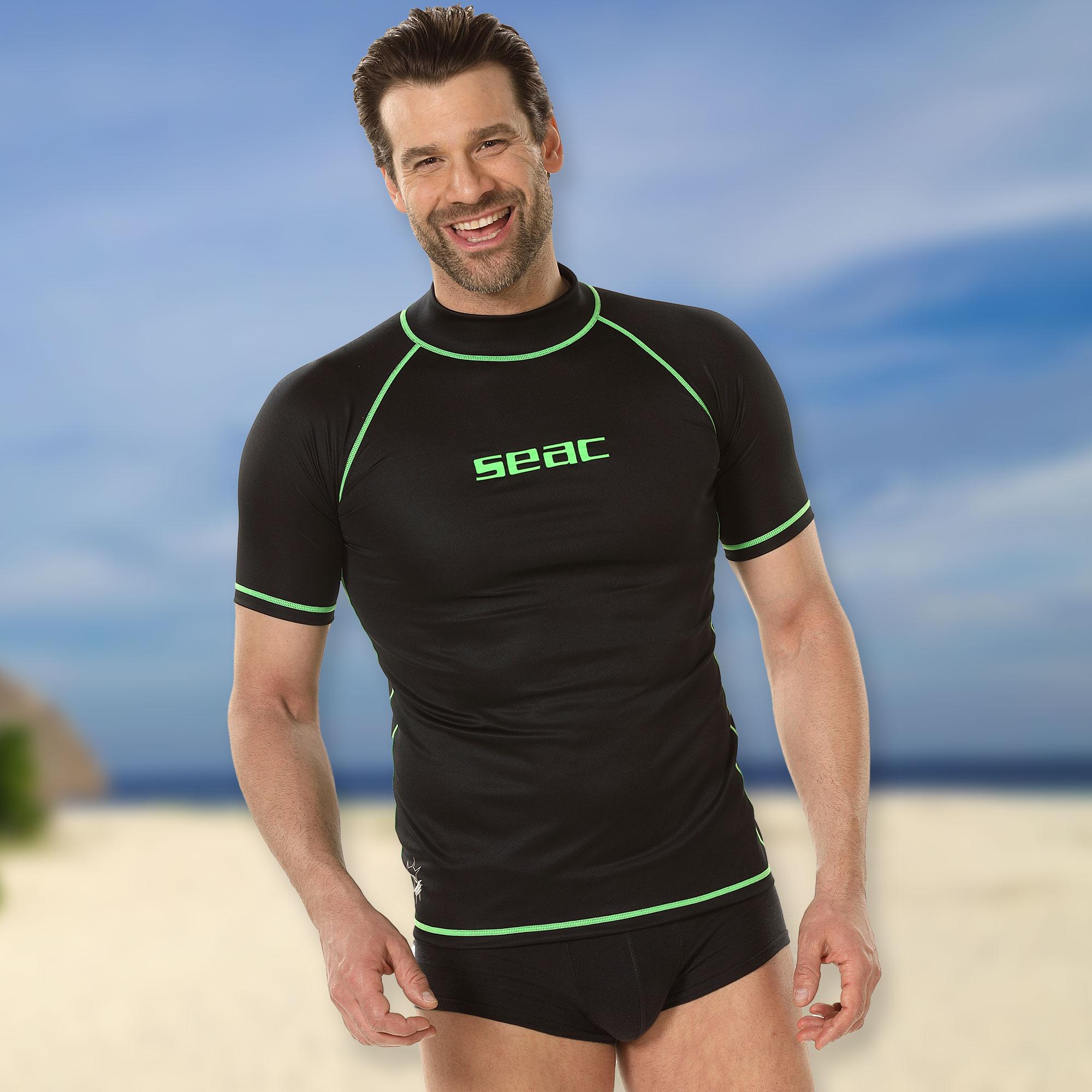 Scubapro Sonnenschutzshirt UV-Shirt GRAPHITE Rash Guard Langarm Herren UPF50