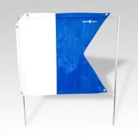 Aqualung Taucherflagge 68 x 59 cm (Alpha-Flagge)