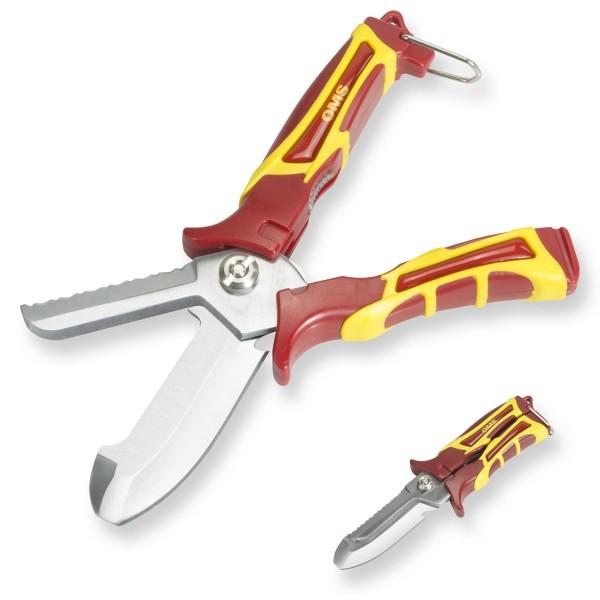 OMS Scherenmesser SK-1 - ein wahrer Allesschneider, runde Spitze