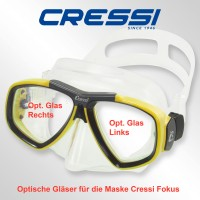 Optisches Glas für Cressi Focus- links -1,0