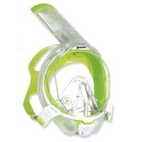 Mares Sea Vu Dry plus - Vollgesichtsmaske mit Trockenschnorchel, white lime