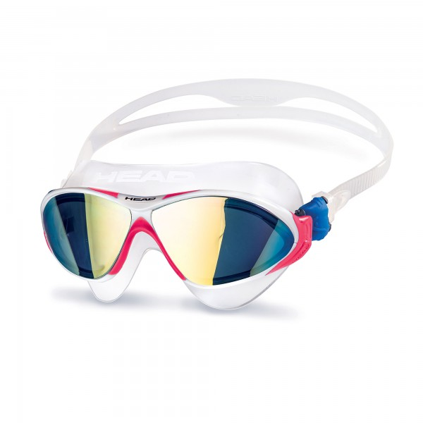 Head Horizon Mirrored Schwimmbrille - weiß pink