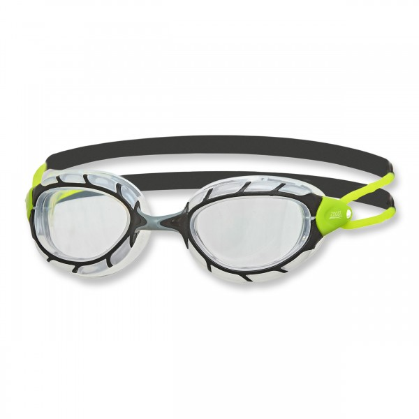 Zoggs Schwimmbrille Predator Regular Fit, black lime clear