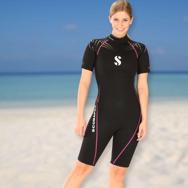 Scubapro Wassersportshorty Definition Damen - 2,5 mm mit Rückenreißverschluss