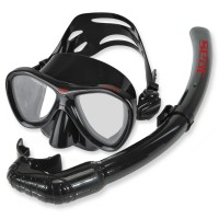 Seac Cove Flex Freitauchset - Sparset Maske und Schnorchel, schwarz