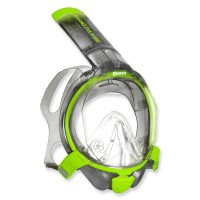 Mares Sea Vu Dry plus - Vollgesichtsmaske mit Trockenschnorchel, grey lime