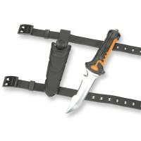 Seac Tauchermesser Rapid schwarz orange - mit Messerbändern