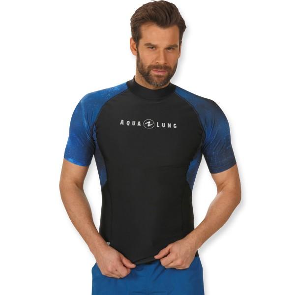 Aqualung Rashguard Galactic Men Kurzarm - blau UPF 50