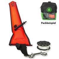 OMS Safety Sparset 3.3 - mit Boje, Tasche und 23 m Mini Reel - Lizard Grün
