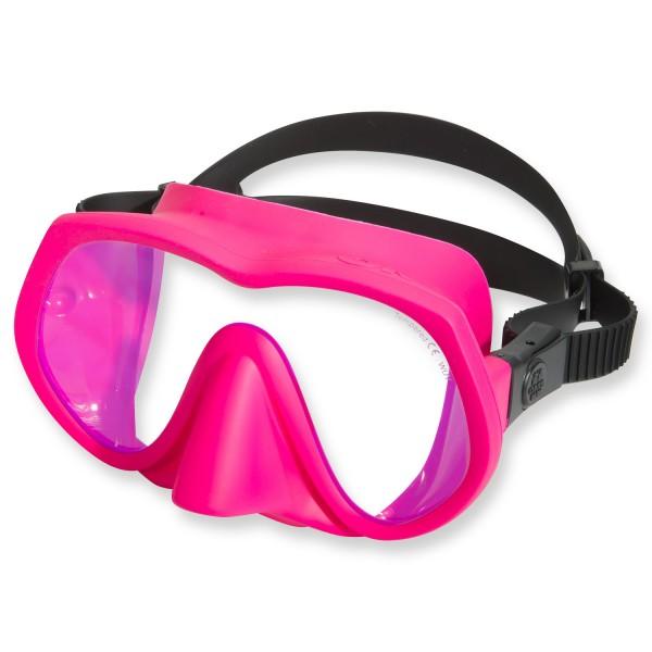OMS Tauchmaske TX1 - UV Schutz Glas, pink