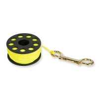 Seac Spool Reel mit 30 m Seil - gelb, Fingerspool