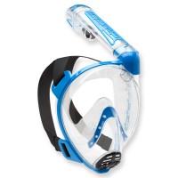 Cressi Duke - Vollgesichtsmaske mit Trockenschnorchel, blau