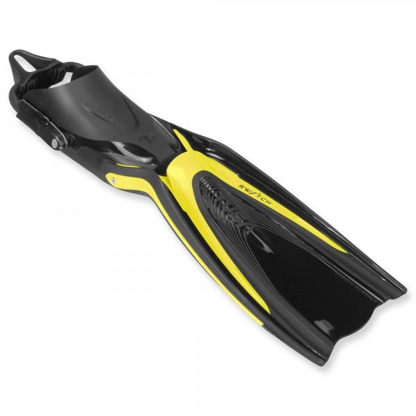 Tusa Hyflex Switch Tauchflosse SF-0104 - kraftvoller Vortrieb mit Bungees - gelb