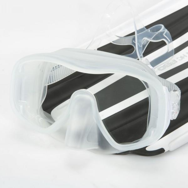 Mares Juno Einglas Maske - clear white mit großem Sichtfeld