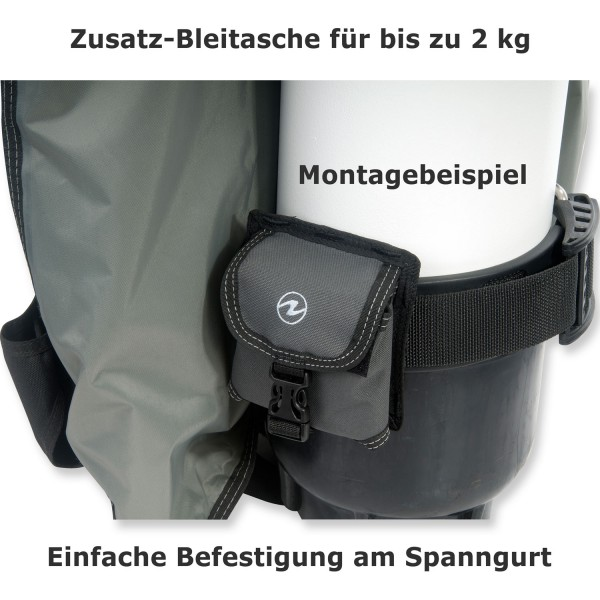 Aqualung Zusatzbleitasche (Trimmbleitasche) für Zuma-Jacket