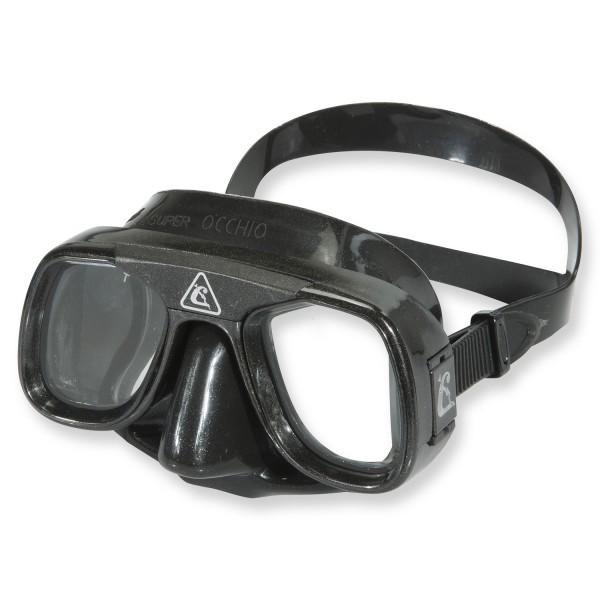 Cressi Superocchio Black - kleine Maske aus schwarzem Silikon